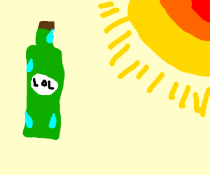 Some bottle (lol) out in the harsh sunlight