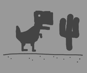 """Google Chrome's """"no internet dinosaur game"""" - Drawception"""