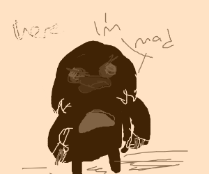 Old meme angry at drawception D