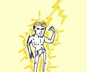 Human lightning conducter