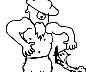 catdog VS old Cyclops with a fadora