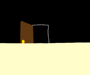 half of an open doorway