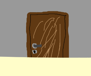 Glitched door panel.