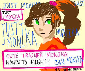 monika wants to fight