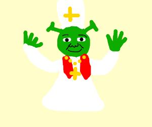 Shrek as a pope