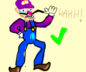 Waluigi proclaims to have autism, but is fine