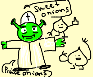 Shrek as the pope of Onion-anity