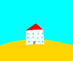 lone house in the desert