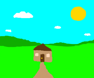 a peaceful house in the countryside