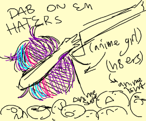 Anime Girl Dabs on Haters