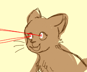 Kitty With Laser Shooting Eyes
