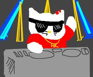 DJ Hello Kitty here to rock the club