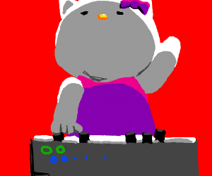 Cool synthesizer, but also there's hello kitty