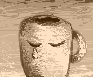 Walking coffee mug wants coffee, is denied