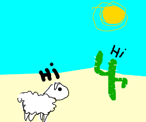 Sheep meets cactus