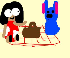 Lilo and Stitch at a picnic