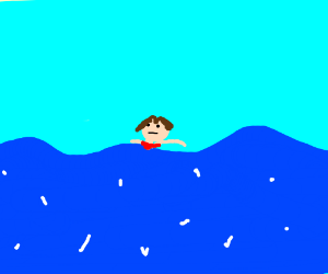 Girl swimming in water