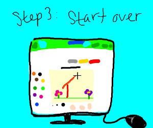 Step 2: erase