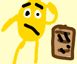 gene is puzzled by toast