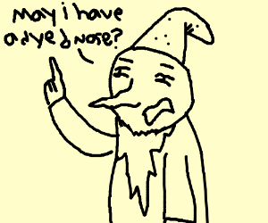 wizard asks for dyed nose