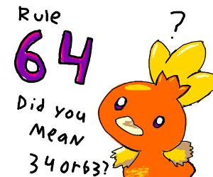 rule 64 pokemon