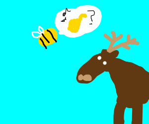 a bee asking a deer if it likes jazz