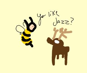 bees vs deer