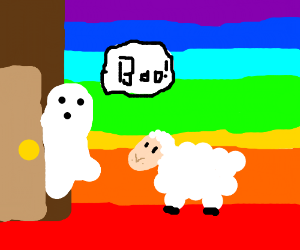lamb at a gay haunted house