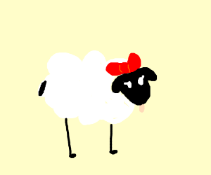 Snow white, but with sheep