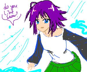 Anime girl talks about... Snow?