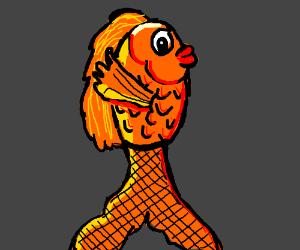 fish in fishnet stocking