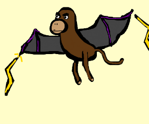 Monkey with bat wings that shoots lightning