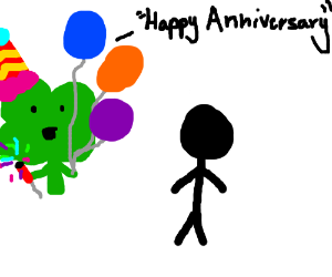 a party clover wishes you a happy anniversary