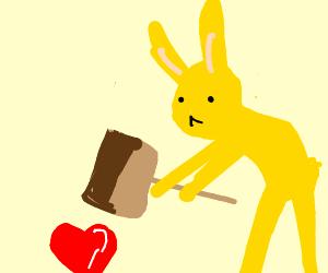 Cute bunny's destroy all the love