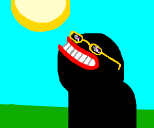 Staring at the sun with sunglasses