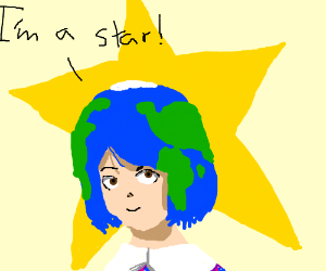 earth becomes a star
