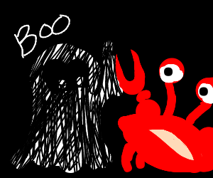 Ghost high fives crab