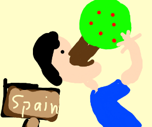 Man eats tree in Spain