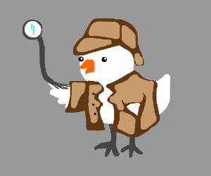Inspector Gadget but a chicken