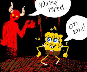 SpongeBob is working for Satan