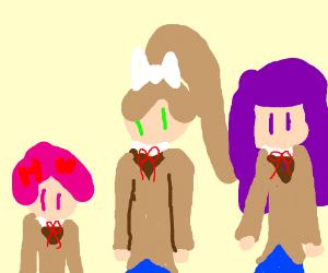 Natsuki, Monika, & Yuri