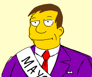 mayor from the Simpsons