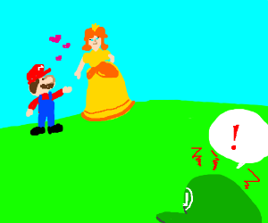 luwigi is mad at mario for stealing his girl