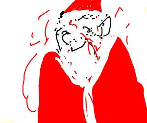 Santa Clause dies happy