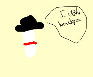 """pill with a fedora says """"I redu backpa"""""""