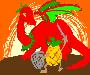 hot pepper dragon fight knight pineapple