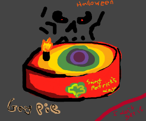 Gay Saint Patrick's Halloween Pie