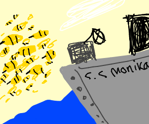 s.s monika sailing right into a swarm of bees