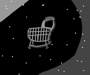 shopping trolly in space