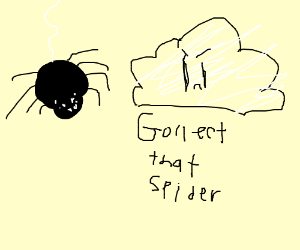 Spider person ticking cloud person